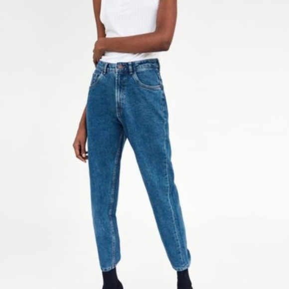 7ca0bbac Zara Authentic Denim by TRF High Waisted Jeans